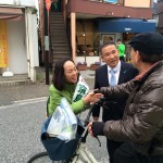 久しぶりにサウザンロードを京島けいこ候補と歩きました。