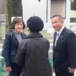 民主党公認 大沢ようこ候補と活動中です