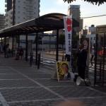 今朝はJR淵野辺駅頭から活動をスタートしました。