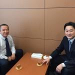 北海道から石川知裕さん(北海道11区)が立ち寄ってくださいました。