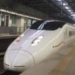 九州新幹線で京都へ向け出発
