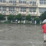 大雨のため