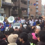 青山学院大箱根駅伝三連覇 祝勝パレードが淵野辺で行われております。
