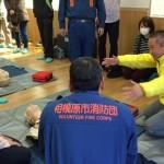 地元事務所があります嶽之内自治会主催の防災訓練に参加中です。