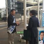 夕方より西沢けいた都議 応援団として、東中野駅頭で活動してきました。