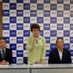 10時より民進党本部にて、民進党代表選挙 受付が始まり、前原誠司候補と枝野幸男候補のお二人が立候補届けを済まされました。
