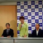 立候補受付では、受付順に前原誠司候補・枝野幸男候補の2人が正式に立候補されました。
