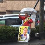 選挙戦8日目 緑区より活動をスタートしました。