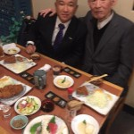 今夜は政治の師 藤井裕久先生と「とんかつ 伊勢」さんにで食事会です。