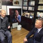 本会議終了後、国政報告のため藤井裕久先生の事務所にお邪魔しております。