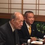今夜は政治の師 藤井裕久先生を囲んで4時間の忘年会でした。