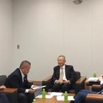 国債の出口戦略について、国会内にて立憲民主党の落合貴之衆議院議員(東京6区)と一緒に勉強会に出席しております。