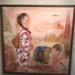 福島県浪江町や楢葉町などを訪れ、子供たちや牛たちの気持ちを日本画で描かれている戸田みどり先生の画廊展にお邪魔してきました。