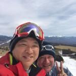 本日は車山高原スキー場にて滑っております。