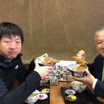 県議時代からお世話になっている地元の杉崎さんと一緒に、お薦めの「増田屋 城山」さんにて、天丼ランチセットをいただきました^ ^