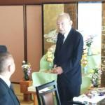 葬儀委員長をおつとめいただきました政治の師 藤井裕久先生にもご出席いただき、母の一周忌法要を行いました。