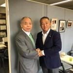新党大地 鈴木宗男代表に無所属議員としての報告と、今後の活動のアドバイスをいただきました。
