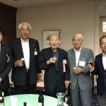 東京地方税理士会相模原支部の定期総会が行われ、その後の懇親会に藤井裕久先生と出席させていただきました。
