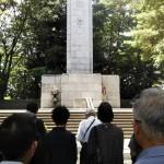 本日は日本各地で慰霊祭が開かれ、相模原でも市の慰霊塔で戦没者を追悼し、平和への祈りを捧げる式典が催されました。