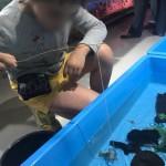 娘と白ザリガニ釣りにチャレンジ!