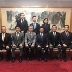 本会議が17時30分頃終わり、その後中華人民共和国 駐日本国大使館にて、宋耀明 公使らと懇親の場があり、青柳陽一郎団長を先頭に若手議員6名でお邪魔してきました。