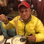 そうけんの会 小椋光政会長との夕飯会は、県議時代からポスター掲示をしていただいている「青山スパゲティ」さんで、スープスパゲティをいただきました。もちもち感のパスタは美味しいです^ ^