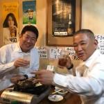 福田紀彦 川崎市長とジンギスカンを食べながら、意見交換を行なってきました。