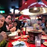 橋本駅頭後は青壮年部の皆さんと焼肉を食べて、元気モリモリです!