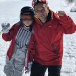 昨日の疲れを吹き飛ばし、2日目のスキーを楽しんでおります。