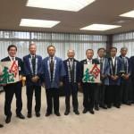本日は、相模の大凧まつり 川崎喜代治実行委員長をはじめ各地区の保存会の皆さんに市長室にお越しをいただきました。