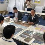 今朝は、麻溝台・新磯野第一整備地区土地区画整理事業の現場を視察させていただきました。
