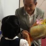 講演後、お子さんからの激励の花束に元気倍増^ ^