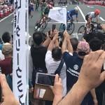 来年の2020東京オリンピックに向けて、自転車ロードレース競技テストイベントが行われており、市内を世界レベルの選挙たちが駆け抜けていきました^ ^