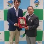 車いすテニス世界国別選手権 「ワールドチームカップ」クァード部門の優勝報告に、相模原市在住の中澤吉裕監督がお越しになりました。