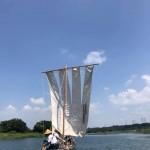 帆かけ舟実演会