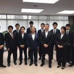 馬淵澄夫元国土交通相がお越しになり、本村賢太郎事務所のインターン生(10名)と面会してくださりました。