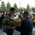 本日9月30日をもって、野村教育長が3年間の任期を満了し、退任されました。