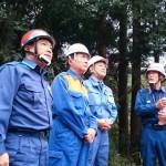 台風第19号に伴う被災地視察(緑区牧野)を、武田良太内閣府特命担当大臣(防災)、黒岩祐治神奈川県知事と行いました。