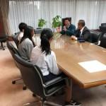 中学生の職業体験の際にSDGs教育もされた報告に、浦上さんが中学生とご一緒に立ち寄ってくれました。