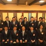 今夜は、長友よしひろ県議と一緒に藤野商工会青年部の皆さんとの懇親会です。
