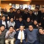 今夜は県庁での要望活動後、長友よしひろ県議と一緒に津久井商工会青年部の皆さんと懇親会を行いました。