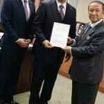 相模線複線化等促進期成同盟会の会長として、御法川信英国土交通副大臣に赤間二郎衆議院議員と一緒に複線化等の要望を行ってきました。