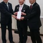 連合神奈川の吉坂会長より台風第19号被害に対しまして、本市へ寄附金をいただきました。