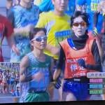 別府大分マラソンにて、東京パラリンピックマラソン代表第一推薦者(内定)の道下選手の伴走で走っているのは、本市職員の青山さん。