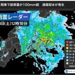 6時33分大雨警報、雷、洪水注意報が発表されました。現在もかなり強い雨が降っており、市内各地で道路に大きな水たまりがみられます。
