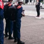 相模原市消防局新規採用職員「耐久訓練(長距離歩行)」出発式