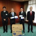 株式会社 徳永ビル 徳永三朗社長より本市に対して、マスク及び除菌ウェットティッシュの寄贈をいただきました。
