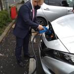 公用電気自動車 急速充電器等の視察