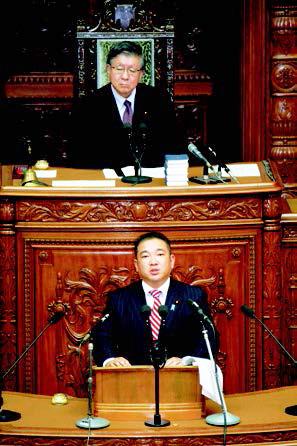 衆議院本会議で初登壇